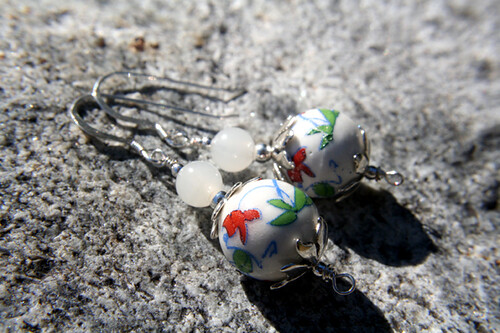 Kiinalainen kissa (Chinese cat) earrings