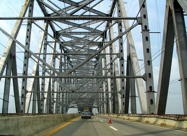 Driving the Francis Scott Key bridge