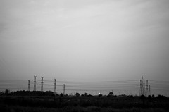 continuity of power (L_) Tags: blackandwhite bw highway grain powerlines 401