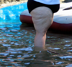 ...she stays in the shade because the sun is bad for her skin (professional recreationalist) Tags: sun fat inflatable shade brucedean professionalrecreationalist float fitness obese inflate kimjohnson floatationdevices mrgeoff