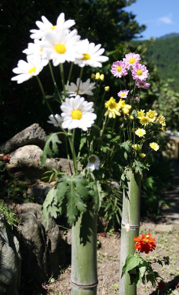 """bamboo flower vase for """"Obon"""""""