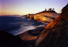 Cape Kiwanda, 25 seconds (Zeb Andrews) Tags: sunset oregon seascapes pinhole pacificocean pacificnorthwest zeroimage coastlines kodak100uc zero69 bluemooncamera zebandrews zebandrewsphotography