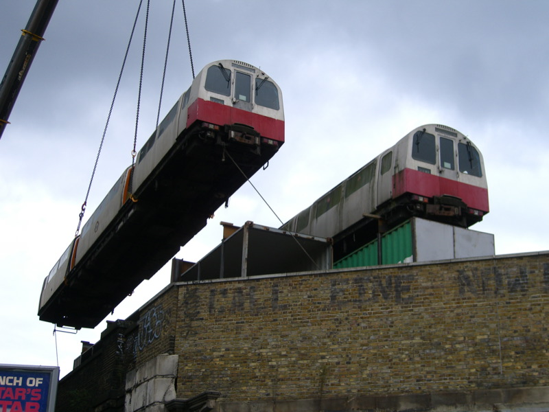 Tube train on the roof 2
