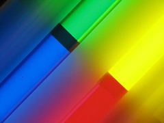 Diagonal (locket479) Tags: blue light red abstract color green yellow neon bright primary multicolor