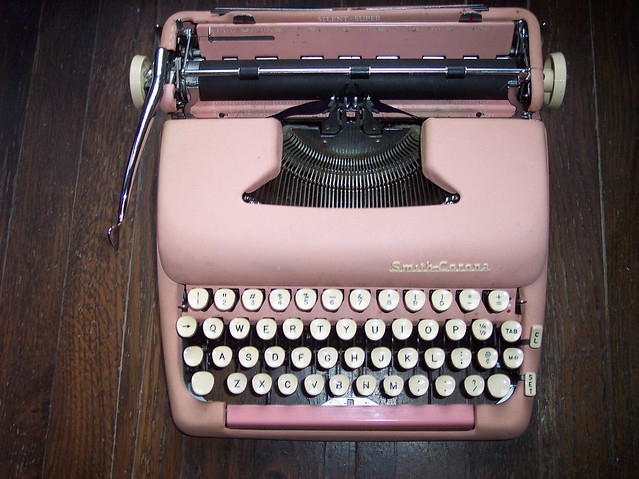 my pink typewriter