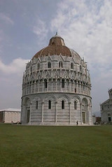 The baptistry in Pisa, with clear Islamic influences
