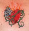 """Sacred Heart"" Tattoo 2 A close up"