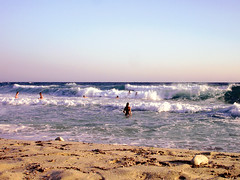 Ikaria 297 (isl_gr (Mnesterophonia)) Tags: morning beach sport mediterranean surf waves ikaria icaria  aegean july greece campers ege   icariansea  meltemi messakti wildswimming