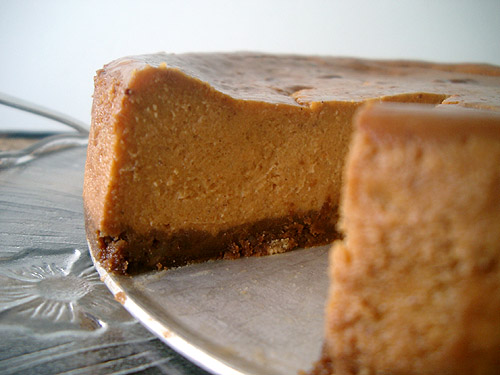 Pumpkin Cheesecake Cut