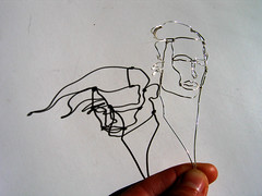 wire sculpture with shaddow (polyscene) Tags: shadow portrait sculpture art silver 3d wire frame polly poly wireframe minature verity wiresculpture wireart polyscene pollyverity