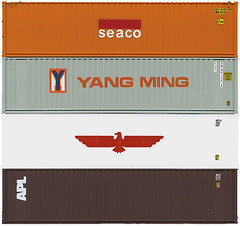 Shipping Containers - Seaco, Yang Ming, APL, APL (Joe Kral) Tags: home k modern industrial prefab line container evergreen yang cast po shipping hyundai ming matson hanjin kline houe apl ics oocl cosco nedlloyd nol uniglory itel seaco genstar