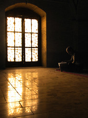 Looking for light (Farhang.) Tags: door school light reflection iran muslim islam persia esfahan isfahan koran qoran farhang chaharbagh farhanghaghighat chaharbaghschool
