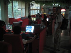 """No Net No Victory"" Internet cafe (Julian) Tags: china wow shanghai internet games worldofwarcraft"