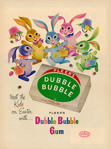 Fleer's Dubble Bubble Gum ad, 1960s, originally uploaded by bayswater97.