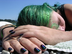 it's changed (stonelucifer) Tags: green me nails powellriver mnfg whatsthathonesty