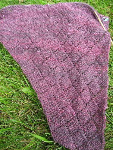 handspun shawl - in progress