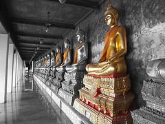 buddha (Off ya chops) Tags: travel colour thailand temple asia bangkok buddha adventure exotic fv10 wat selective interestingness99 i500 angkorsingle