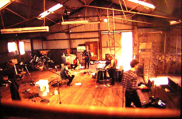 recording in the pines in the wool shed