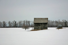Small Barn (reddogphotoworks) Tags: snow field barn shed homestead poe