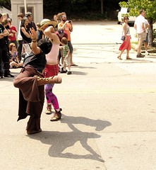 dancers and shadows (zen) Tags: people festival children dancers asheville streetpeople lexingtonave lexingtonavenue lexfest laaff 20060910 googleavl