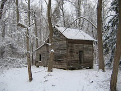 abandoned house (MasterGeorge) Tags: old winter urban house snow abandoned woods trail exploration