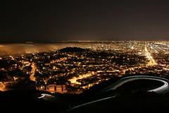 Fog Invasion (A Sutanto) Tags: sf sanfrancisco california ca city longexposure usa night lights scenery view scenic twinpeaks