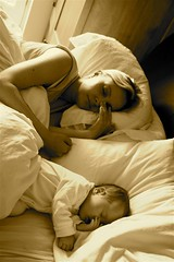 Mother & Daughter (Ian Boichat @ Origin Studios) Tags: baby cute beautiful sepia top20favorites sleep symmetry halloffame top20halloffame motherbaby cotcmostfavorited interestingness37 i500 outstandingshots top20cute abigfave superaplus aplusphoto tc93sepia