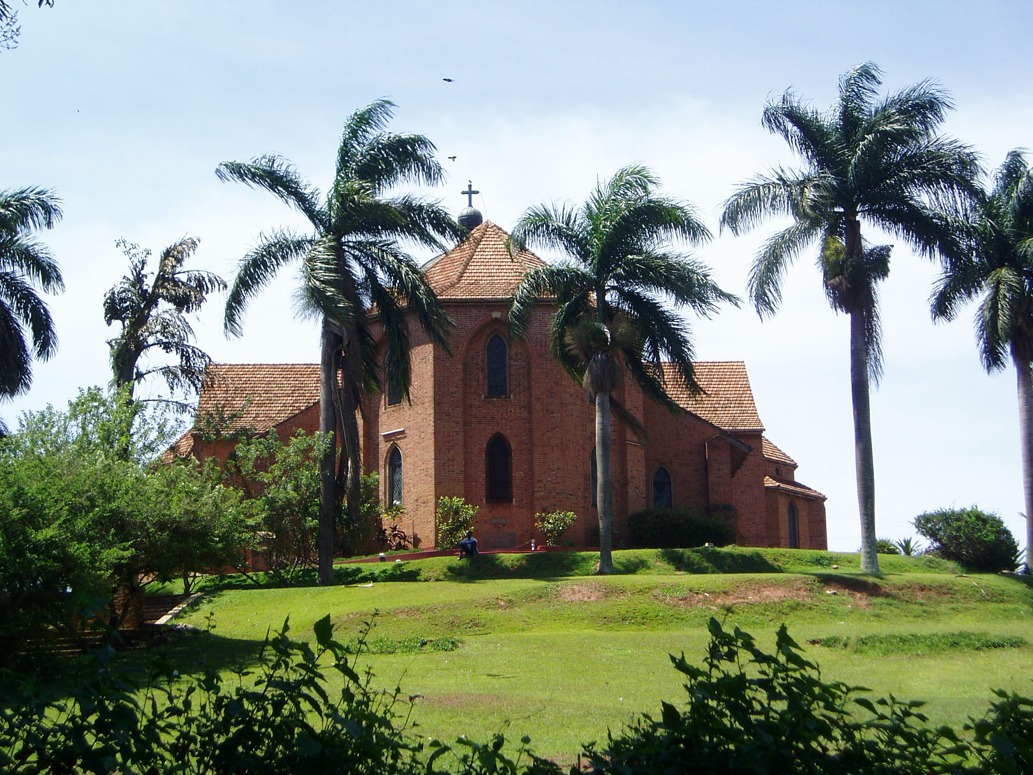 Church on top of the hill in Kampala