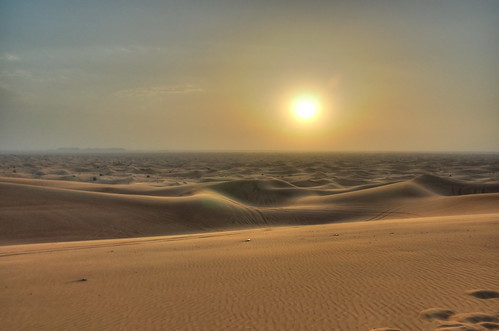 Sunset at Dubai Desert
