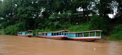 El río Mekong en Luang Prabang