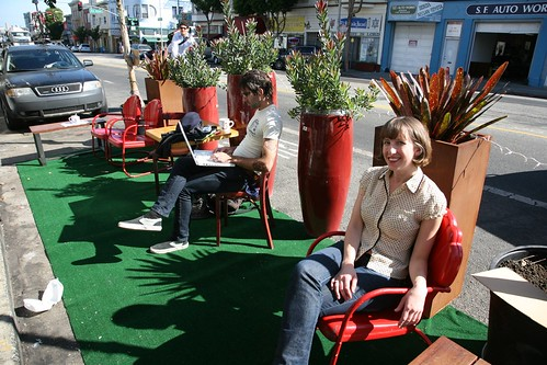 PARK(ing) Day by Laughing Squid.