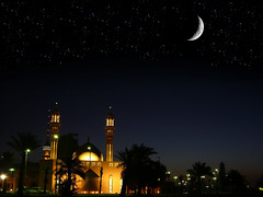 HAPPY RAMADHAN [Mobarak Alaikom Al Shahar] (radiant guy) Tags: morning sky moon beautiful