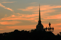 Sunset in Russia (` Toshio ') Tags: sunset saint stpetersburg russia petersburg saintpetersburg admiralty toshio palaceembankment admiralteystvo