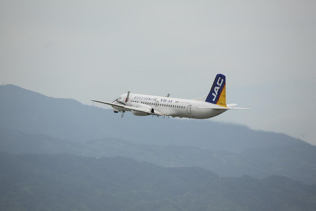 YS-11 Taking off @RJOM 3
