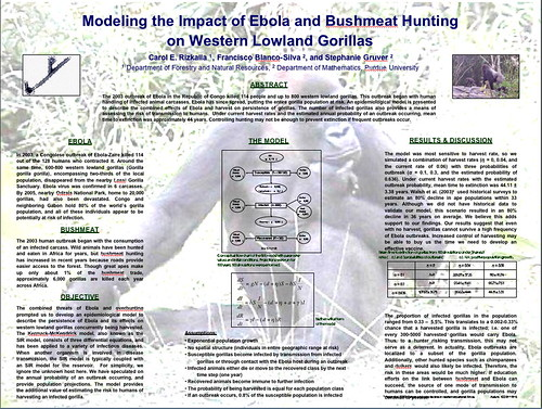 Modeling the Impact of Ebola and Bushmeat hunting