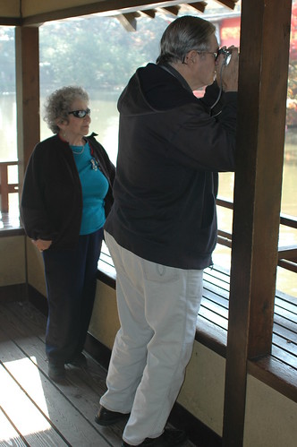 My parents in the viewing pavilion