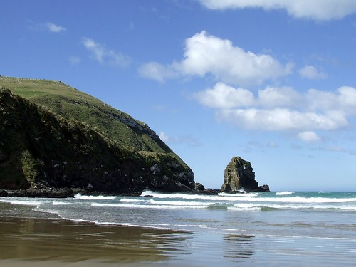 Beach @ Cannibal Bay, New Zealand