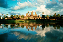 Ankor Wat Sunset Reflections - by Agent Davidov