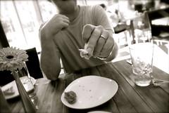 (picture_bunny) Tags: blackandwhite bw food sepia brooklyn tomato yummy italian nikon yum rustic hungry feed pesto winebar bruschetta foodphotography travelphotography d80 stunningnikon nikond80 heatherwaraksa waraksa