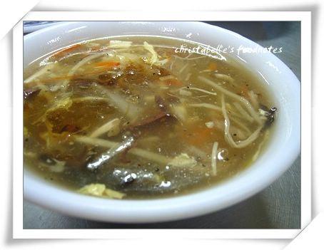 台中市上上水餃酸辣湯