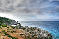 Sicily Coast (Renmarc) Tags: sea summer sky italy cloud beach nature topv111 photoshop landscape flickr italia mare nuvola play estate experiment natura more cielo views sicily capo hdr paesaggio italians zafferano interestingess renmarc theperfectphotographer