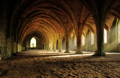 Monk's Solace (~Glen B~) Tags: uk light england abbey wow shadows nikond70 religion monk arches fountainsabbey northyorkshire solace tamron28300mm bbok abigfave satelliteportfolio redbubble:id=2737331monkssolace