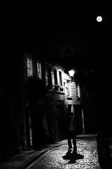 the shadows (curlsdiva) Tags: mystery edinburgh shadows darkness lane cobbles mews clockface setts