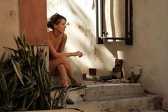 0400 (ido1) Tags: woman girl israel telaviv waiting break smoke smoking wait nevezedek