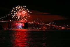 Fireworks Over The Bay Bridge (San Francisco) (caryniam) Tags: 2005 sanfrancisco fireworks kaboom baybridge kfog top20fireworks 96hours sfchronicle96hrs carynbecker