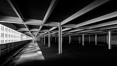 The Hurt Plaza Deck (shutterclick3x) Tags: parking deck downtown city blackandwhite bw frankloose