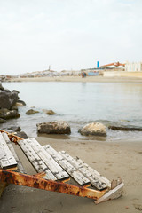 2018_04_15 (Andrea Manconi (Rubagalline)) Tags: italy urban sea seashore water old shack sand ladder rust beach