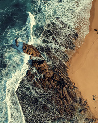 The Watcher (eCHstigma) Tags: landscape seascape beach aerial drone dji spark sfbayarea bayarea outdoors california waves coast sea water ocean rocks