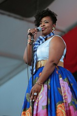 Quiana Lynell at the New Orleans Jazz and Heritage Festival on Sunday, April 29, 2018