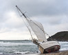 beached (pbo31) Tags: bayarea california nikon d810 color april 2018 spring boury pbo31 sanmateocounty pacifica pacific ocean shore beach westcoast sail beached boat shipwreck sailboat sky sunset